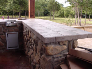 Tile Outdoor Kitchen